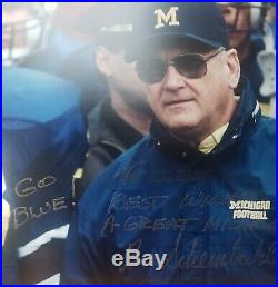 Bo Schembechler Signed Autographed 8x10 MICHIGAN WOLVERINES Inscribed Authentic