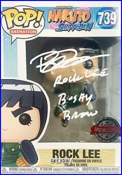 Brian Donovan Rock Lee autographed inscribed Funko Pop 739 PSA Naruto Shippuden