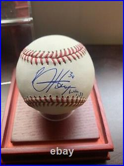 Bryce Harper AUTOGRAPHED Inscribed Luke 137 Rawlings OML Baseball PSA/DNA
