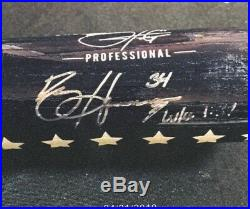 Bryce Harper Autographed & Inscribed Players Weekend Bat! 1/1 JSA Authenticated