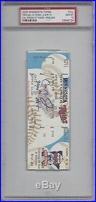 CAL RIPKEN Jr Signed 3000 Hit Ticket PSA 10 Gem Mint Inscribed Auto Autograph