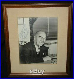 Captain Eddie Rickenbacker Signed/Inscribed PhotoMedal of Honor/Eastern Airline