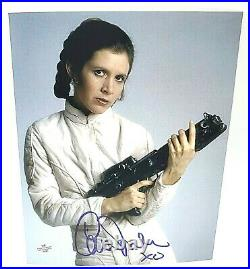 Carrie Fisher Hand Signed XO Inscribed Autographed 8x10 Star Wars Photo With COA