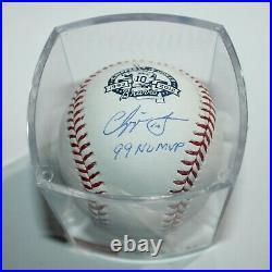 Chipper Jones Autographed Braves #10 Inscribed Retirement MLB Baseball JSA COA