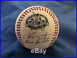 Chipper Jones Autographed & Inscribed Retirement Baseball PSA/DNA