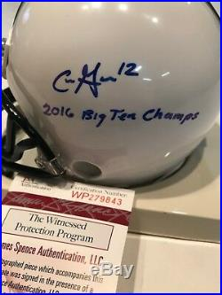 Chris Godwin Autographed Signed Inscribed Penn State Mini Helmet Jsa Coa