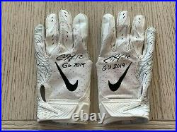 Chris Godwin autographed inscribed Game Used Gloves NFL Tampa Bay Buccaneers JAG