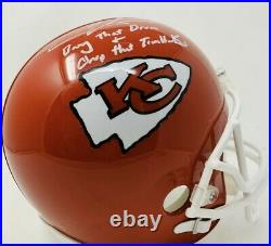 Chris Jones KC Chiefs Full Size Replica Autographed Inscribed Helmet Beckett