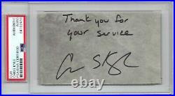 Chris Kyle signed 3x5 cut PSA DNA Slabbed Auto Rare Inscribed Sniper d. 2013 C419