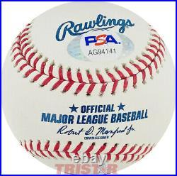 Chris Webber Autographed ML Baseball Inscribed 4 Psa Michigan Fab Five