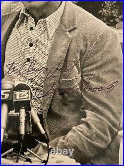 Clint Eastwood signed Black & White Photo JSA LOA Famous Actor Inscribed B729