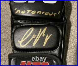 Conor McGregor Signed Autographed UFC MMA Glove Inscribed Notorious READ DESC