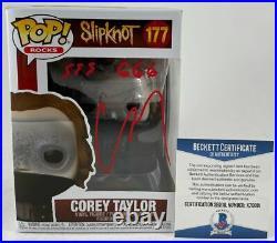 Corey Taylor Signed Inscribed Slipknot Funko POP C Autograph Stone Stour BAS COA