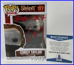 Corey Taylor Signed Inscribed Slipknot Funko POP D Autograph Stone Stour BAS COA