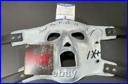 Corey Taylor Signed Inscribed Slipknot Mask Autographed Stone Stour BAS COA