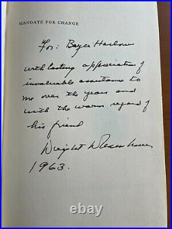 DWIGHT EISENHOWER signed/inscribed book to chief speech writer BRYCE HARLOW