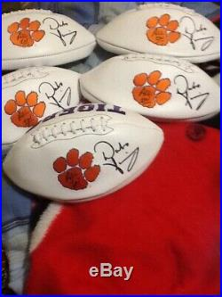 Dabo Swinney Autographed Clemson Tigers Football with All IN Inscribed