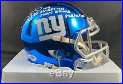 David Tyree autographed signed inscribed Chrome Mini Helmet New York Giants PSA