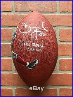 David Tyree autographed signed inscribed football New York Giants Hand Painted
