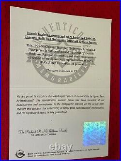 Dennis Rodman UDA Upper Deck Signed Autograph Inscribed 1995/96 Jersey 11/25 BOX