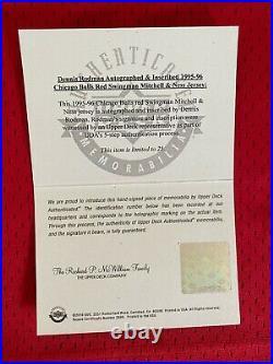 Dennis Rodman UDA Upper Deck Signed Autograph Inscribed 1995/96 Jersey 20/25 BOX