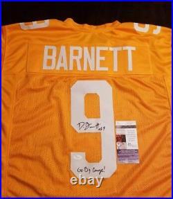 Derek Barnett Autographed Custom Jersey Inscribed Jsa/coa U23747 Tennessee