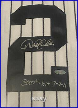 Derek Jeter Autographed Inscribed 3000th hit 7-9-11 Framed Shadow Box Steiner
