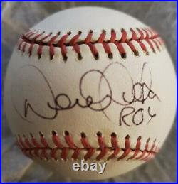 Derek Jeter Signed Autographed Oal Baseball Inscribed Roy New York Yankees
