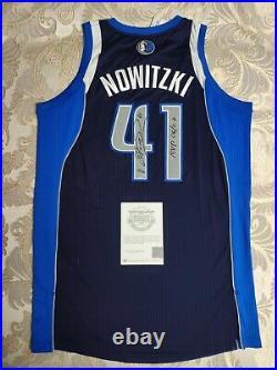 Dirk Nowitzki Autographed and Inscribed Dallas Mavericks Revolution 30 Authentic