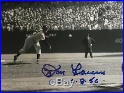 Don Larsen & Yogi Berra Yankees Dual Autographed 8x10 Inscribed PG 10/8/56 JSA