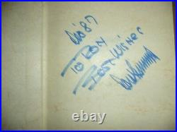 Donald Trump The Art of the Deal 1987 Book Signed Inscribed to Ron withDust Jacket