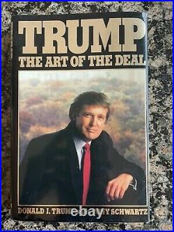 Donald Trump The Art of the Deal Signed Inscribed Book