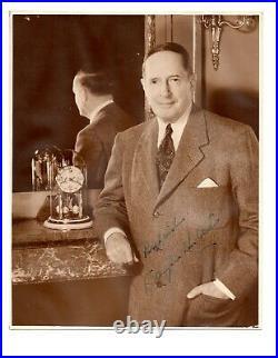 Douglas MacArthur signed Sepia Photo JSA LOA Inscribed Rare Auto WW2 B794