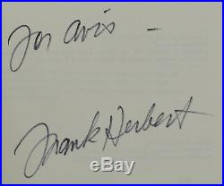 Dune SIGNED by FRANK HERBERT Fine Hardcover Reprint Inscribed & Autographed