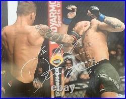 Dustin Poirier autographed signed inscribed 16x20 photo UFC PSA COA McGregor KO