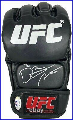 Dustin Poirier autographed signed inscribed glove UFC The Diamond PSA COA