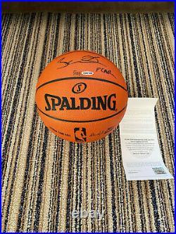 Dwyane Wade UDA Upper Deck Signed Autograph & Flash Inscribed Basketball 7/103