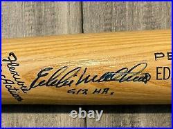 Eddie Mathews 512 Hr's Inscribed Autographed Adirondak 302 Baseball Bat Braves