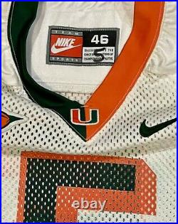 Edgerrin James Miami Game Used Autographed Inscribed Game Worn Jersey NFL HOF