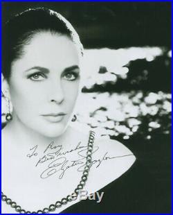 Elizabeth Liz Taylor Autographed Inscribed Photograph