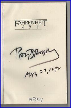 FAHRENHEIT 451 Ray Bradbury SIGNED Autograph SIGNATURE Classic DYSTOPIAN Novel