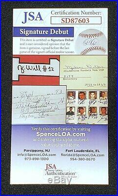 Fernando Tatis Jr Autographed 50th Baseball Inscribed 1st MLB HR 4/1/19 JSA COA