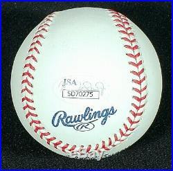 Fernando Tatis Jr Autographed 50th Baseball Inscribed El Nino with JSA COA