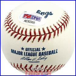 Fernando Valenzuela Signed Autographed ML Baseball Inscribed Nl Cy 1981 Psa