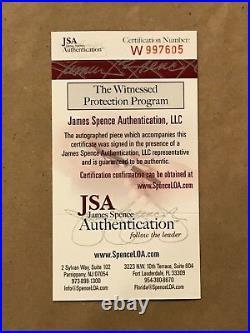 Framed Bert Jones Autographed Signed Inscribed Baltimore Colts Jersey Jsa Coa