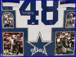 Framed Daryl Johnston Autographed Signed Inscribed Dallas Cowboys Jersey Jsa Coa