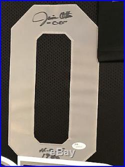 Framed Jim Otto Autographed Signed Inscribed Oakland Raiders Jersey Jsa