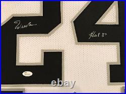Framed Willie Brown Autographed Signed Inscribed Oakland Raiders Jersey Jsa Coa
