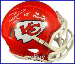 Frank Clark autographed signed inscribed mini helmet Kansas City Chiefs Beckett