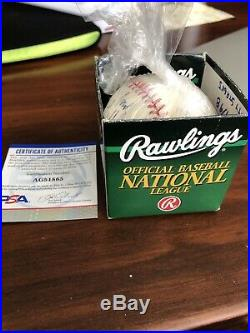 Genesis Sir Phil Collins Auto Autographed Signed MLB Baseball PSA Inscribed Love